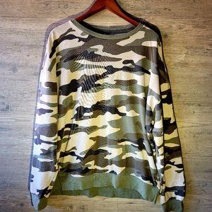 H&M Camo Crewneck Sweatshirt. Perfect Condition!